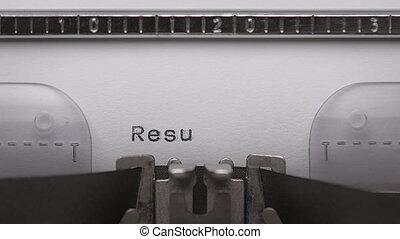 dactylographie, texte, machine écrire