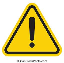 danger, attention, signe, avertissement