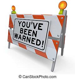 danger, averti, été, signe, construction, youve, avertissement, route