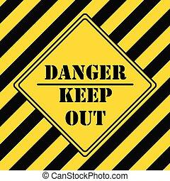 danger industriel, symbole, -, subsistance dehors