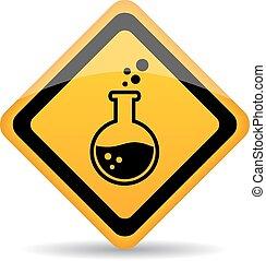 danger, produits chimiques, panneau avertissement