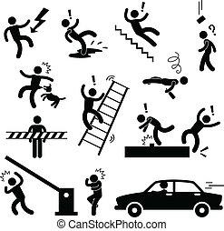 danger, prudence, accident, sécurité, signe