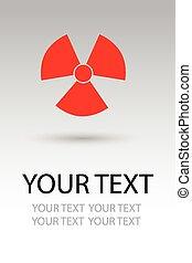 danger, radiation, signe, symbole