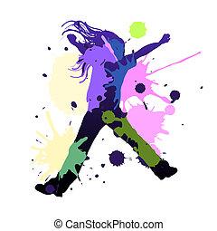 danse, éclaboussure