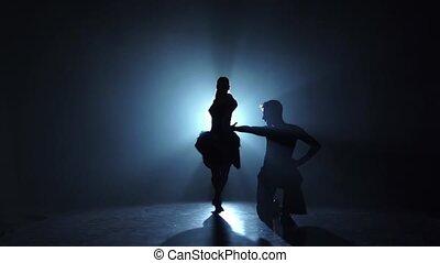 danse, émotif, exécuté, gracieux, champions, lent, pasodoble, mouvement