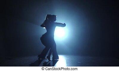 danse, émotif, exécuté, gracieux, champions, ralenti, salsa