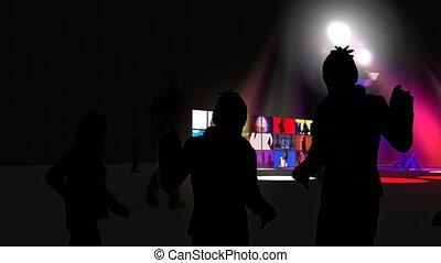 danse, boîte nuit, interprètes