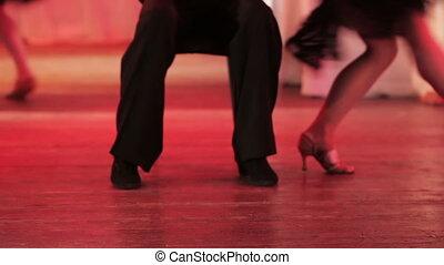 danse, chaise, étape