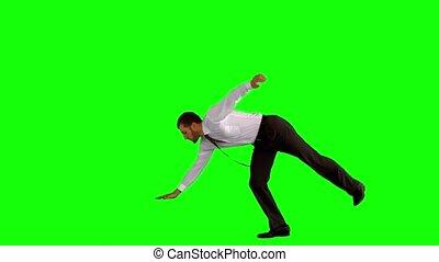 danse, coupure, homme affaires