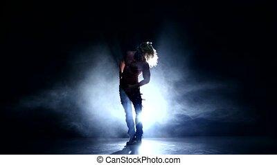 danse, fumée, modèle, muscle, studio, homme