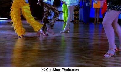 danse, jambes, danseurs, plancher