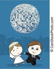 danse, mariage, premier