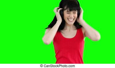 danse, musique, quoique, écoute, femme, heureusement
