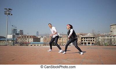 danse, professionnel, danseurs