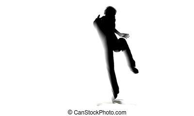 danse, silhouette, homme