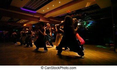 danse, troupe, exécuter, club