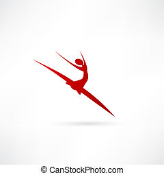 danseur ballet, icône