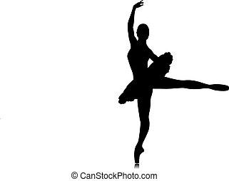 danseur ballet, silhouette