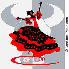 danseur, espagnol