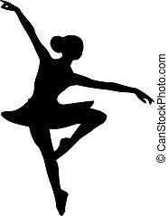 danseur fille, ballerine, ballet
