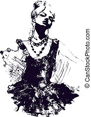 danseur fille, illustration