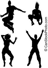 danseur, silhouettes