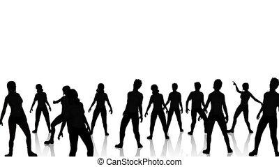 danseurs, 2, silhouette