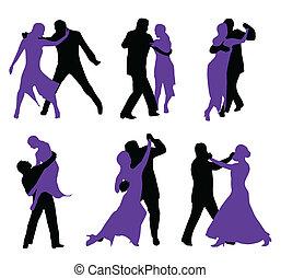 danseurs, isolé
