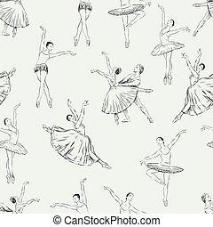 danseurs, modèle, ballet