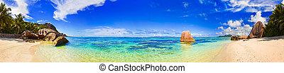 d'argent, source, seychelles, plage