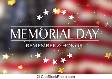 day., texte, américain, drapeau commémoratif