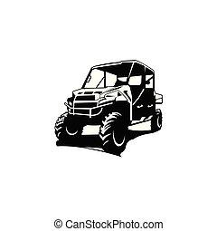 de-route, logo, inspiration, voiture