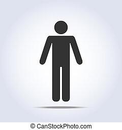 debout, icon., vecteur, humain, illustration