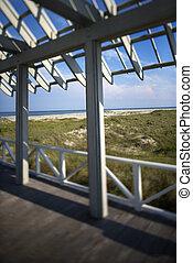 deck., beachfront