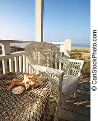 deck., plage