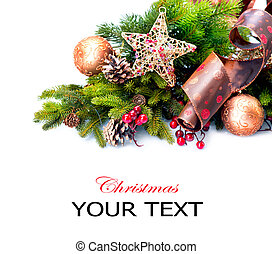 decoration., décorations, isolé, vacances, noël, blanc