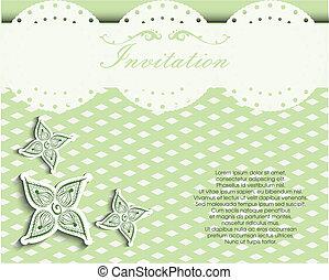 decoretive, carte, invitation