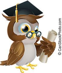 degré, hibou, ou, qualification