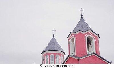 dehors., bâtiment, église, architecture, religieux