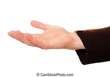 dehors, tenant main