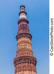 delhi, minar, qutub, indi, minaret