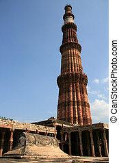 delhi, qutb, inde, minar