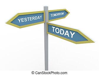 demain, hier, aujourd'hui