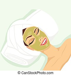 demande, femme, acné, traitement
