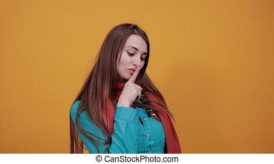 demande, geste, doigt, shhh, voicelessness, calme, silence, lèvres, indice