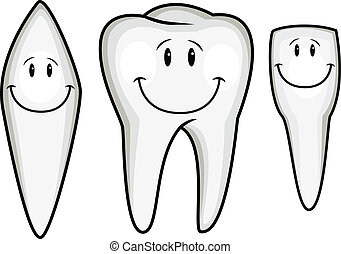 dent, dessin animé, collection