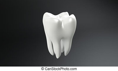 dent, fond, noir, blanc