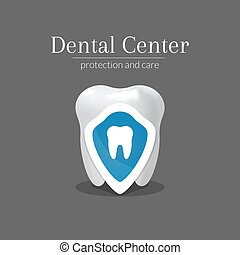 dentaire, conception, centre, logotype