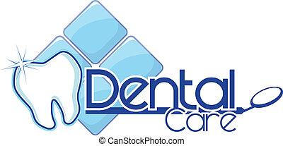 dentaire, vecteur, conception, clair