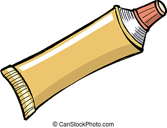 dentifrice, tube, autre, pâte